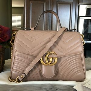 b8e5248521d5 Gucci Not for Sale. New Gucci marmont top handle small rose bag